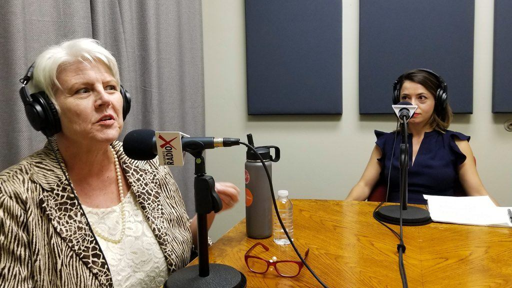 Katharine Halpin and Tina Kosumi speaking on Valley Business RadioX in Phoenix, Arizona