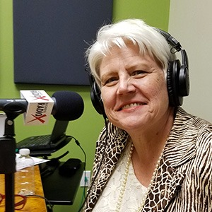 Katharine Halpin with The Halpin Companies in the studio at Valley Business RadioX in Phoenix, Arizona