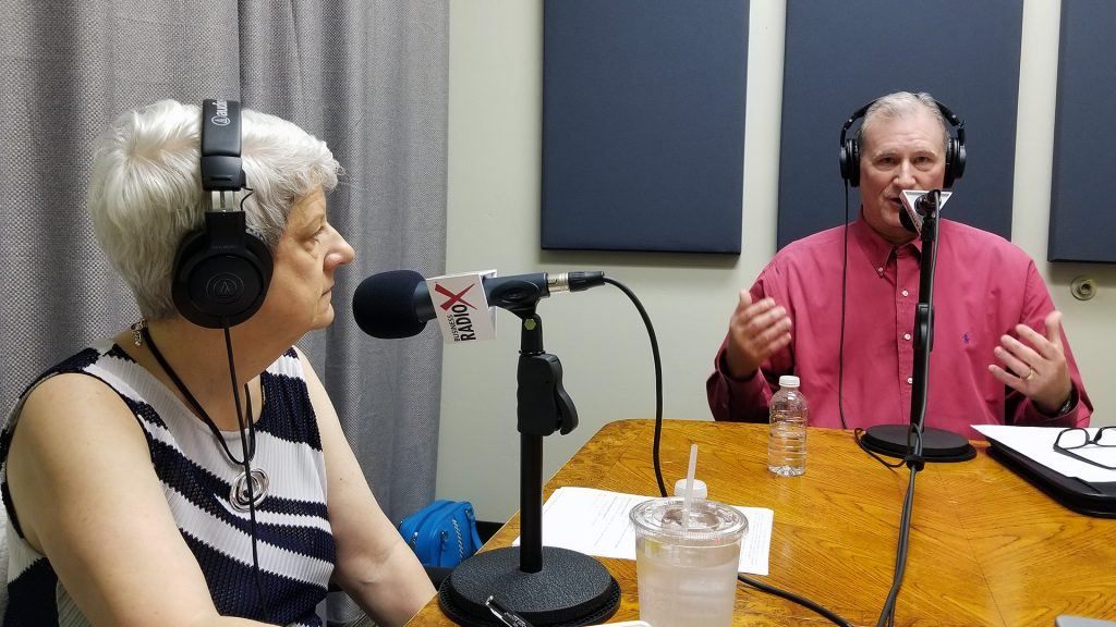 Laurie Battaglia with Aligned at Work and Mike Baize with Insperity speaking on Valley Business RadioX in Phoenix, Arizona