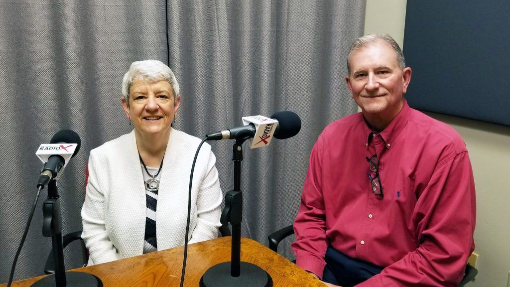 Laurie Battaglia with Aligned at Work and Mike Baize with Insperity visit the Valley Business RadioX studio in Phoenix, Arizona