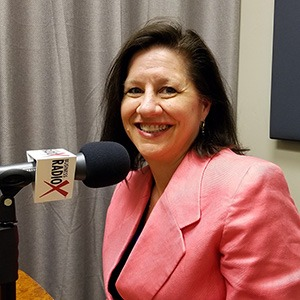 Lisa Riley with LINK Business in the studio at Valley Business RadioX in Phoenix, Arizona
