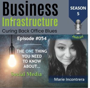 Episosde 54: The One Thing You Need to Know About Social Media – Marie Incontrera