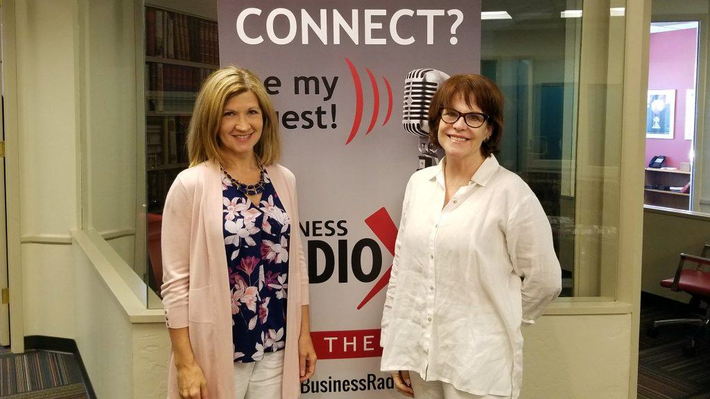 Michele Trent with Remembered Well and PK Fields with ElderSense visit the Valley Business RadioX studio in Phoenix, Arizona
