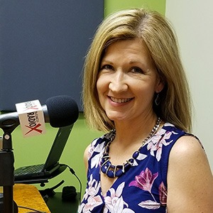 Michele Trent with Remembered Well in the studio at Valley Business RadioX in Phoenix, Arizona