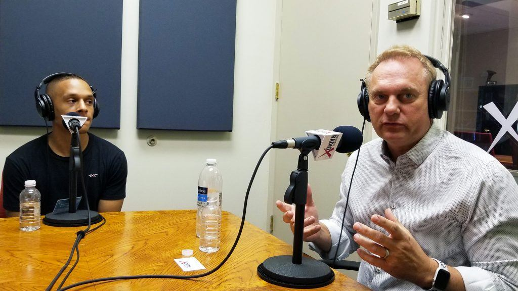 Patrik Matheson with Bridge, and Roger Hurni with Off Madison Ave and LighthousePE speaking on Valley Business RadioX in Phoenix, Arizona