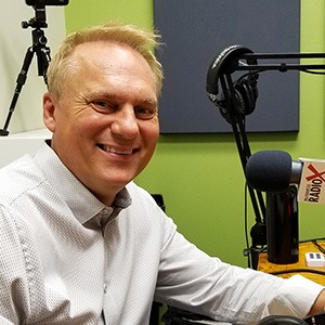 Roger Hurni with Off Madison Ave and LighthousePE in the studio at Valley Business RadioX in Phoenix, Arizona