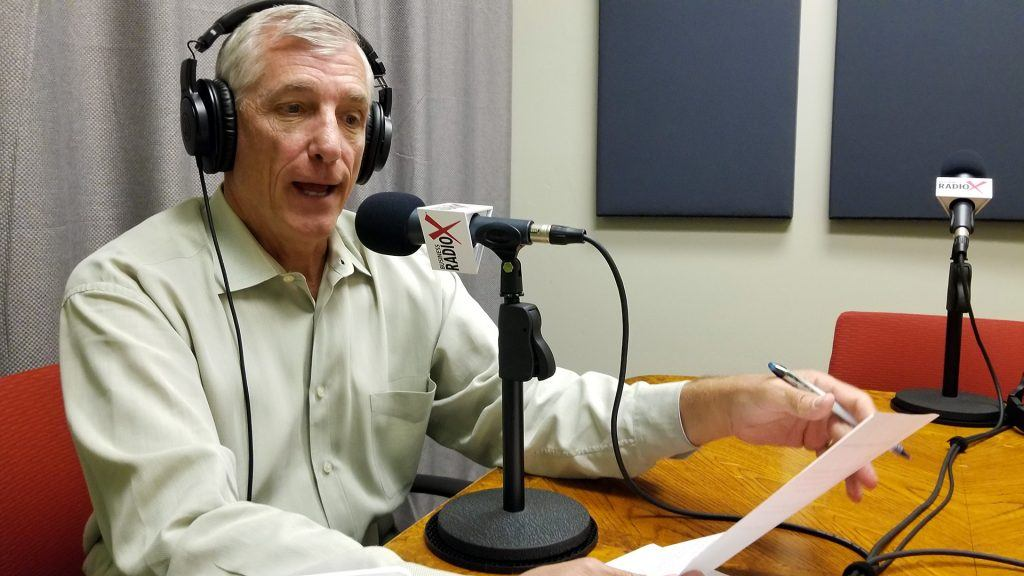 Scott Hanson with The Arizona 100 on the radio at Valley Business RadioX in Phoenix, Arizona