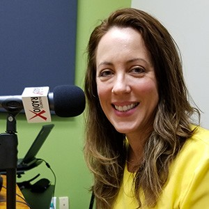 Stephanie Schull with Kegelbell in the studio at Valley Business RadioX in Phoenix, Arizona