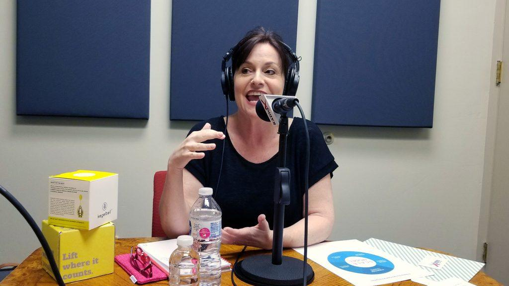 Wendy Breakstone on the radio at Valley Business RadioX in Phoenix, Arizona