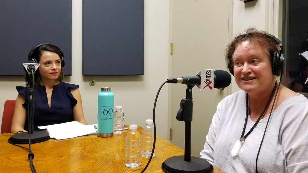 Tina Kosumi and Melissa Sanderson on the radio at Valley Business RadioX in Phoenix, Arizona