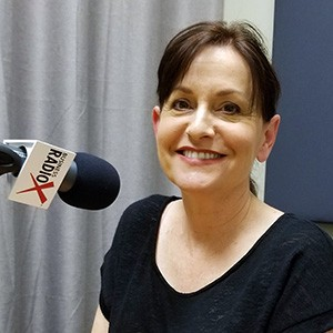 Wendy Breakstone in the studio at Valley Business RadioX in Phoenix, Arizona
