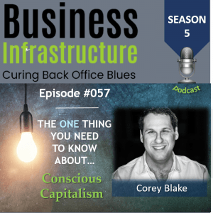 Episode 57: The One Thing You Need to Know About Conscious Capitalism – Corey Blake