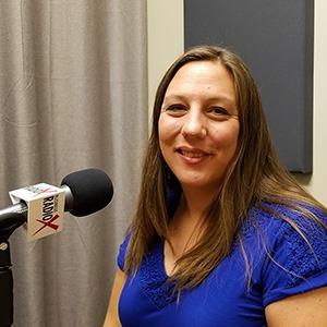 Cheryl Packham with Codobe in the studio at Valley Business RadioX in Phoenix, Arizona