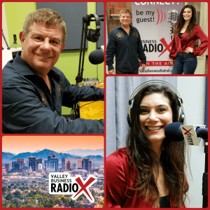 Stuart Gethner with Gethner Education, Coaching & Consulting and Gelie Akhenblit with NetworkingPhoenix broadcasting live from the Valley Business RadioX studio in Phoenix, Arizona