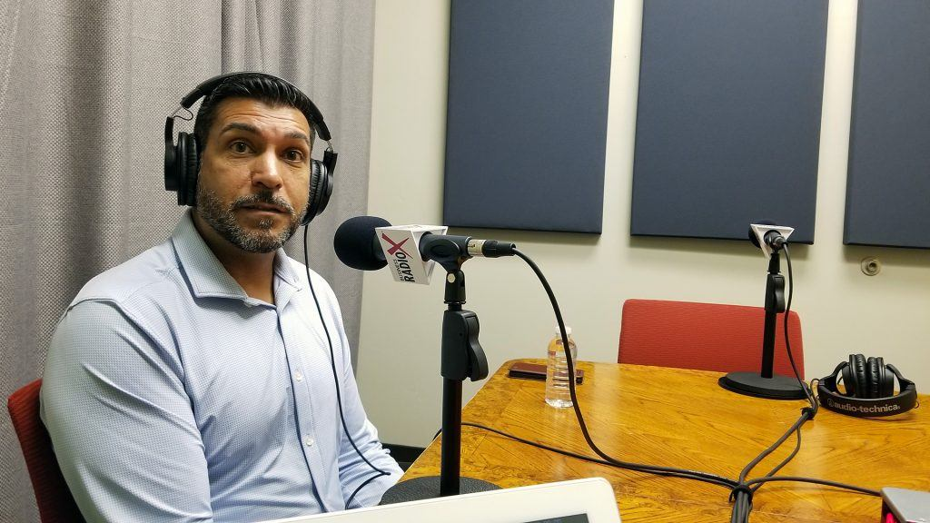 MJ Cordova with Map To Sales speaking on Valley Business RadioX in Phoenix, Arizona