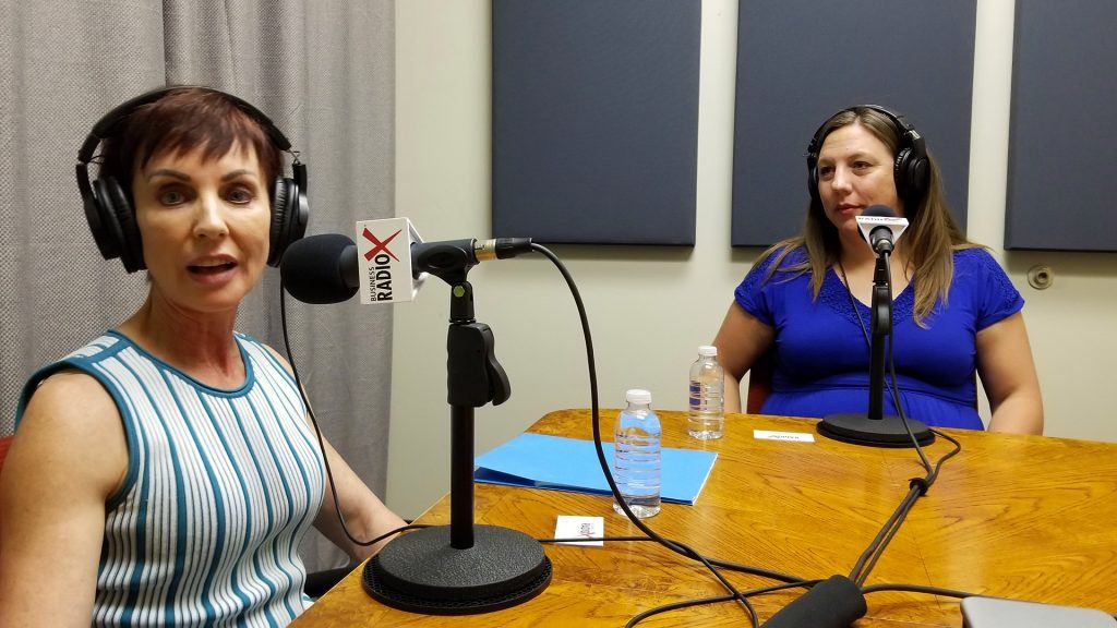 Monique Daigneault with MD Consulting and Cheryl Packham with Codobe speaking on Valley Business RadioX in Phoenix, Arizona