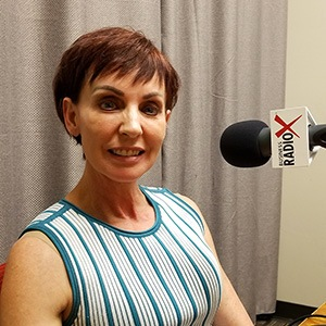 Monique Daigneault with MD Consulting in the studio at Valley Business RadioX in Phoenix, Arizona