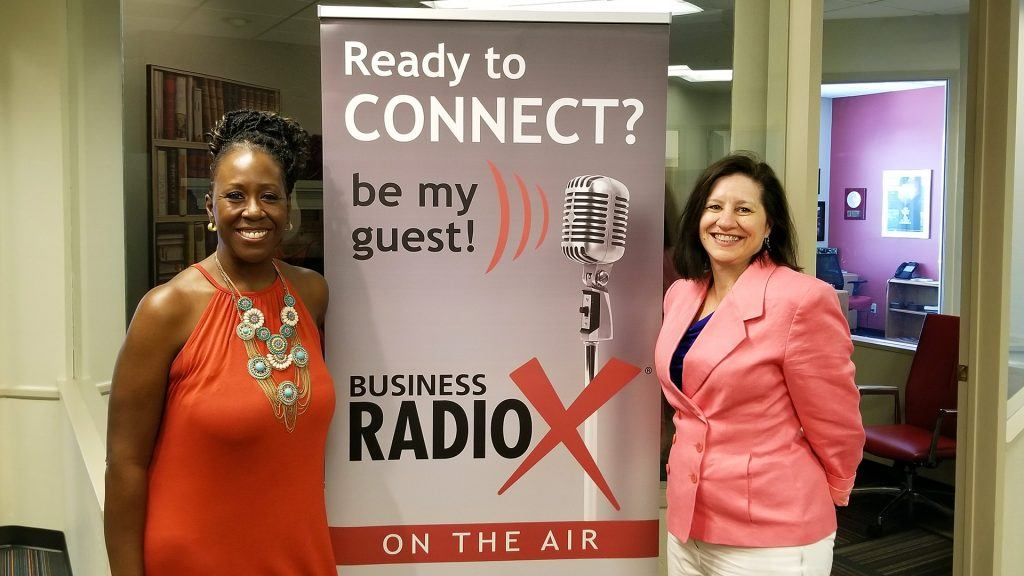 Tish Times with Tish Times Networking and Sales Training and Lisa Riley with LINK Business visit the Valley Business RadioX studio in Phoenix, Arizona