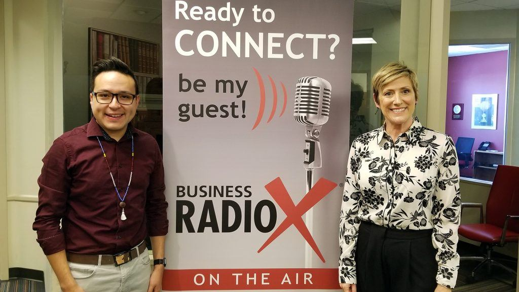 Dr. Tracey Lopeman with Maricopa Unified School District and Brian Garcia with Tempe Union High School District visit the Valley Business RadioX studio in Phoenix, Arizona