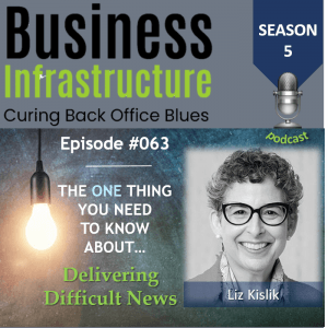 Episode 63: The One Thing You Need to Know About Delivering Difficult News – Liz Kislik