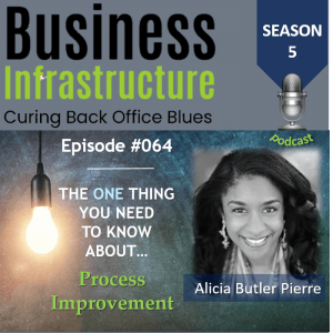 Episode 64: The One Thing You Need to Know About Process Improvement – Alicia Butler Pierre