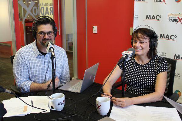 AZ-BRANDCAST-Kathy-Morgan-and-Mike-Marinello-with-AIGA-Arizona