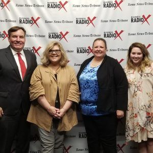 Jeanne Krueger and Amber West from the Chamber of Commerce, and Attorney Jennifer McKay