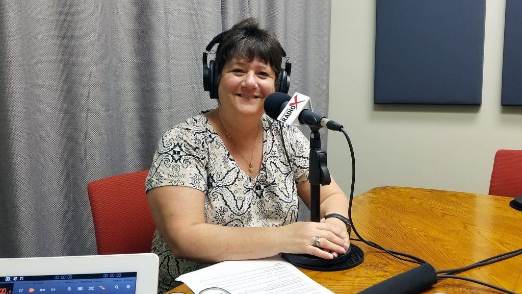 Abbie Fink with The Arizona 100 on the radio at Valley Business RadioX in Phoenix, Arizona