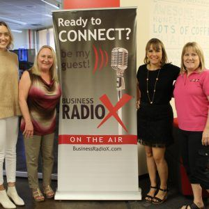 COLLABORATIVE CONNECTIONS Laurel Petsas with Maggies Place Debi Nielson with 88.7 The Pulse and Gwen Gustafson with Arizona Fun Services