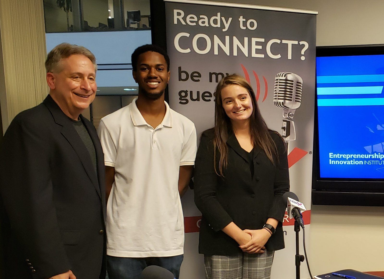 Perry Binder, Eleanor Foxwith and Bryan Girard with GSU