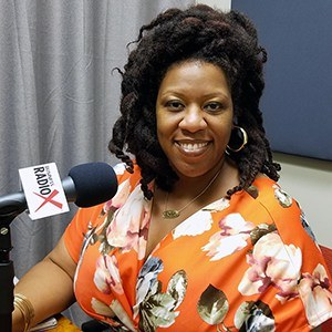LaCoya Shelton with Revolutionary HR Consulting in the studio at Valley Business RadioX in Phoenix, Arizona