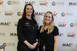 Sarah-Neumann-and-Brittany-Kasprzyk-with-Ahwatukee-Skin-and-Laser-and-Sun-City-Dermatology