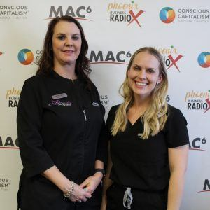 Sarah Neumann and Brittany Kasprzyk with Ahwatukee Skin and Laser and Sun City Dermatology