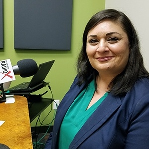 Seela Farani-Simmons with National Education Partners in the studio at Valley Business RadioX in Phoenix, Arizona