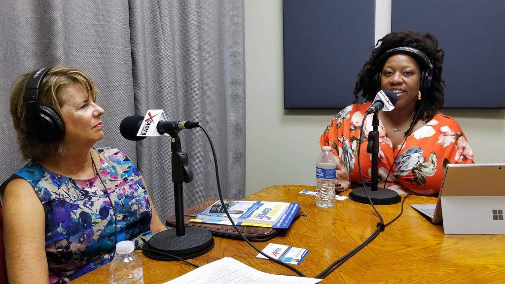 Susan Ratliff with Susan Ratliff Presents and LaCoya Shelton with Revolutionary HR Consulting speaking on Valley Business RadioX in Phoenix, Arizona