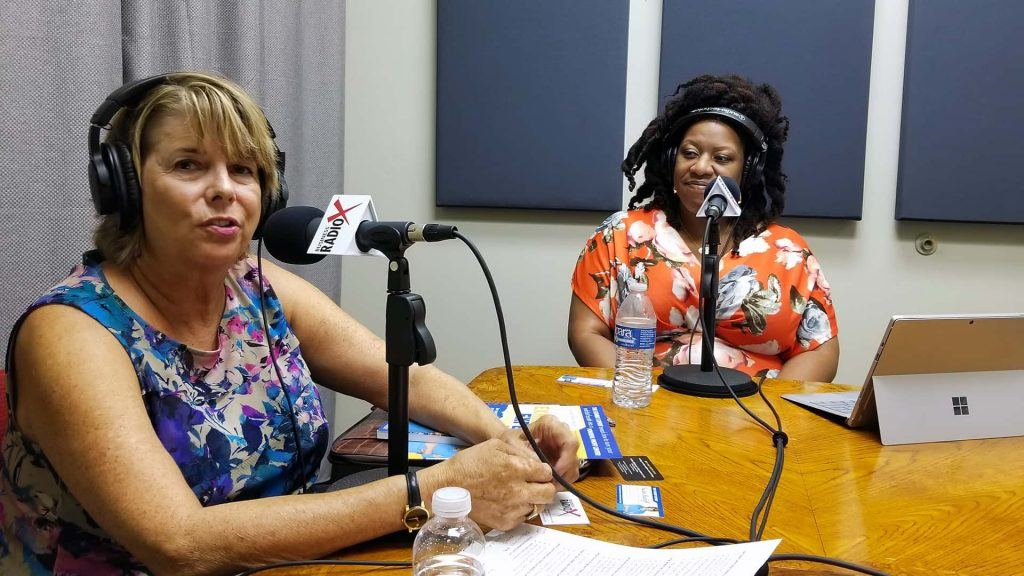 Susan Ratliff with Susan Ratliff Presents and LaCoya Shelton with Revolutionary HR Consulting on the radio at Valley Business RadioX in Phoenix, Arizona