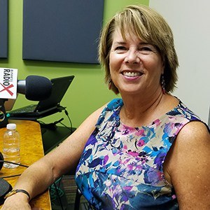 Susan Ratliff with Susan Ratliff Presents in the studio at Valley Business RadioX in Phoenix, Arizona