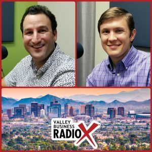 Thanasi Panagiotakopoulos with LifeManaged and Nick Suwyn with Promineo Tech broadcasting live from the Valley Business RadioX studio in Phoenix, Arizona
