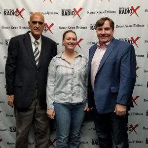 Doug Walker of the Rome News Tribune, and Amanda Farrell of Farrell Frame and Design