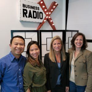 Jennifer Levine Hartz with Corporate Hartz, Halley Morochnik with WebStep Design and An Tran and Nhan Dinh with Sylvan Learning Center