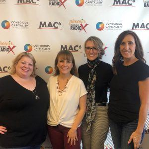 COLLABORATIVE CONNECTIONS Coach and Trainer Dena Patton Holly Carlson with Face It Skincare and Laurie Hamel with Western Insurance Advisors