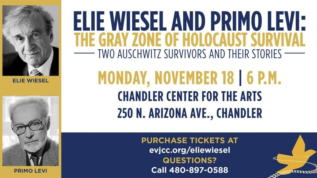 """Lecture on November 18: """"Elie Wiesel and Primo Levi: The Gray Zone of Holocaust Survival"""""""