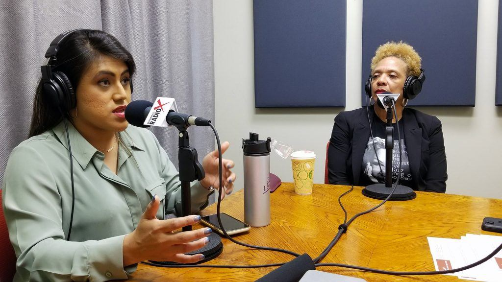 Ellie Pérez with the Arizona Education Association and Dr. Ann Hart with The Hart of Education speaking on Valley Business RadioX in Phoenix, Arizona