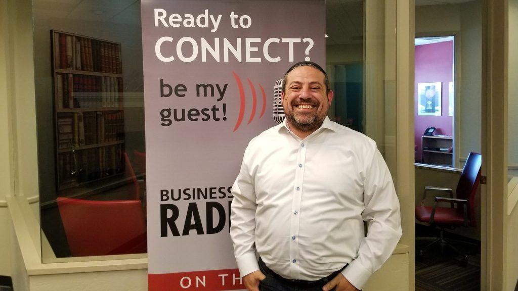 Rabbi Michael Beyo with East Valley Jewish Community Center visits the Valley Business RadioX studio in Phoenix, Arizona