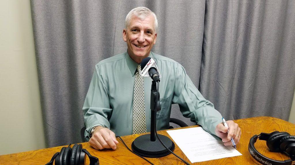 Scott Hanson with The Arizona 100 in the studio at Valley Business RadioX in Phoenix, Arizona