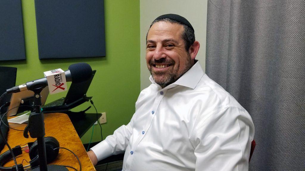 Rabbi Michael Beyo with East Valley Jewish Community Center on the radio at Valley Business RadioX in Phoenix, Arizona
