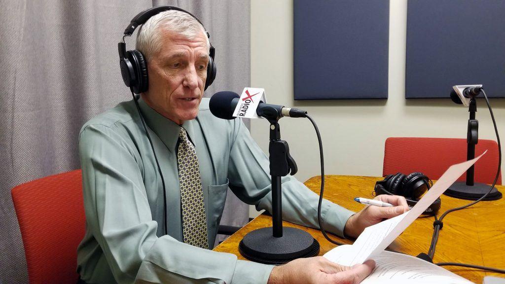 Scott Hanson with The Arizona 100 on the radio at Valley Business RadioX in Phoenix, Arizona