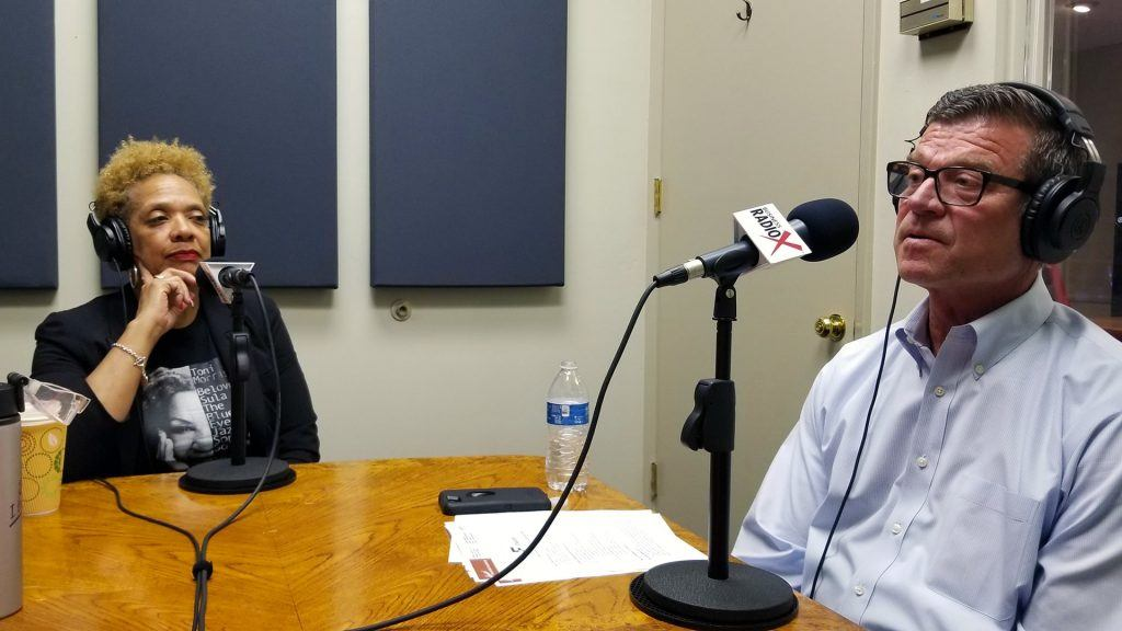 Dr. Ann Hart with The Hart of Education and Steve Zylstra with the Arizona Technology Council on the radio at Valley Business RadioX in Phoenix, Arizona