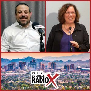 Rabbi Michael Beyo with East Valley Jewish Community Center and Dr. Nancy Harrowitz with Boston University broadcasting live from the Valley Business RadioX studio in Phoenix, Arizona