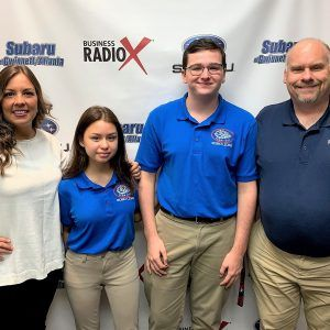 Nadia Bozeman and Joey Costello with Peachtree Ridge High School Robo Lions